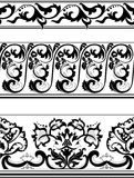 Set of black and white borders Royalty Free Stock Photos