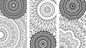 Set of black and white cards. Drawings of a black and white cards in ethnic style on a white background Stock Image
