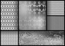Set of black and white patterns. Set of black and white geometric patterns Royalty Free Stock Photography