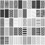 Set of black and white geometric seamless pattern. Stock Image