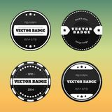Set of black and white glossy badges Royalty Free Stock Photos