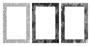 Set of black and white grunge frames Royalty Free Stock Image