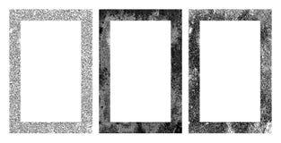 Set of black and white grunge frames. Set of black and white grunge vector frames Royalty Free Stock Image