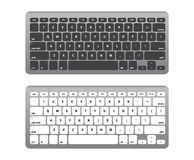 Set Black and White Keyboard QWERTY -  Vector Illustration Royalty Free Stock Images