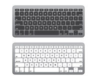 Set Black and White Keyboard QWERTY -  Vector Illustration Royalty Free Stock Photography