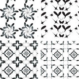 Set black-white ornaments. Set national ornaments, black-white colors stock illustration