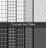 Set of black white Pattern6 Stock Photo