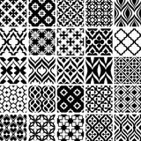 Set of black and white patterns Royalty Free Stock Photos