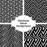 Set of black and white patterns Stock Photo