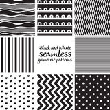 Set of black and white seamless geometric patterns 2 Stock Photography