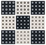 Set of black and white seamless patterns Stock Image