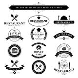 Set of black & white vintage badges and labels Royalty Free Stock Photography
