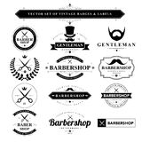 Set of black & white vintage badges and labels Royalty Free Stock Photos