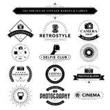 Set of black & white vintage badges and labels Stock Images