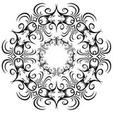 Set of black and white vintage round frames. Royalty Free Stock Photo