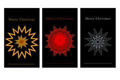 Set of black xmas gift tags. Different christmas gift tags or labels  with stars Stock Photography