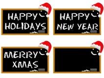 Set blackboard christmas Holidays  Stock Photo