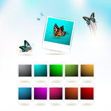 Set of blank Royalty Free Stock Photography
