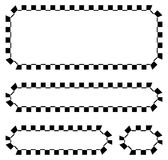 Set of blank banners, plaques with checkered borders for racing, Stock Photography