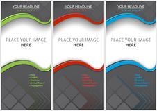 Set of Blank Brochure Template Stock Photography