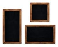 Set of blank chalkboards isolated on white background stock illustration