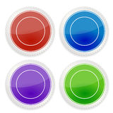 Set of blank circle label Royalty Free Stock Photos