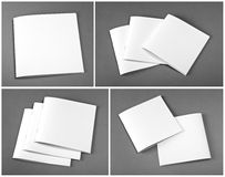 Set of blank closed magazine, catalog, brochure, magazines, book Stock Photos