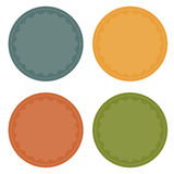 Set of 4 blank colorful badges Royalty Free Stock Photos