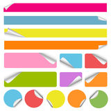 Set of blank colorful stickers Stock Images