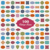 Set of 100 blank colorful vintage frame. Set of 100 colorful vintage frame.Vector eps10 Stock Photo