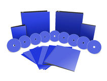 Set blank 3D objects template Stock Image