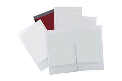 Set of blank empty photo frame cards with copyspace isolated on. White background Royalty Free Stock Photography