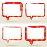 Set Blank empty white speech bubbles watercolor. vector Stock Images