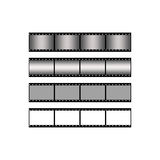 Set blank film strip background. Vector film strip suitable for various projects Royalty Free Stock Image