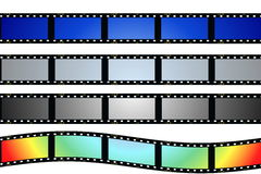 Set blank film strip isolated on white Stock Photo