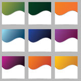 Set of blank forms of different colors. Raster Royalty Free Stock Photos