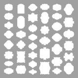 Set of 41 blank frame and label, elegant banner sticker  Stock Images