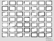 Set Of Blank Frames. Vector EPS 10. Stock Photo