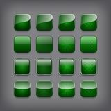 Set of blank green buttons Royalty Free Stock Image
