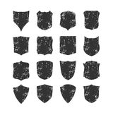 Set of blank, grunge, classic shields Stock Photo