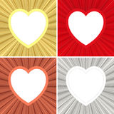 Set of blank heart shaped colorful Stock Photos