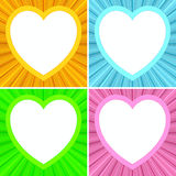 Set of blank heart shaped frames on Stock Images