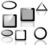 Set blank icons, buttons and frames Stock Images