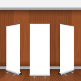 Set of Blank isolated vector roll up banners display mockup Stock Photos