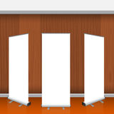 Set of Blank isolated vector roll up banners display mockup Royalty Free Stock Image