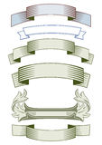 Set of blank label ribbons Stock Photo