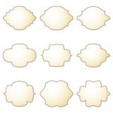 Set of blank labels Royalty Free Stock Photo