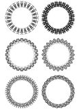Set of blank lace frames in black and white Stock Photography