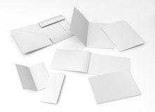 Set of blank leaflets, catalog. Royalty Free Stock Photography