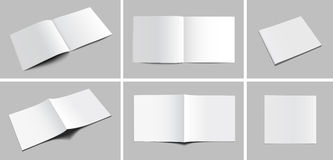Set of blank magazines Royalty Free Stock Photo